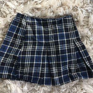 Brandy Melville blue  plaid skirt